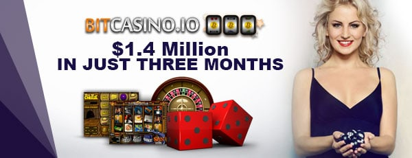 Bitcasino.io $1.4 Million