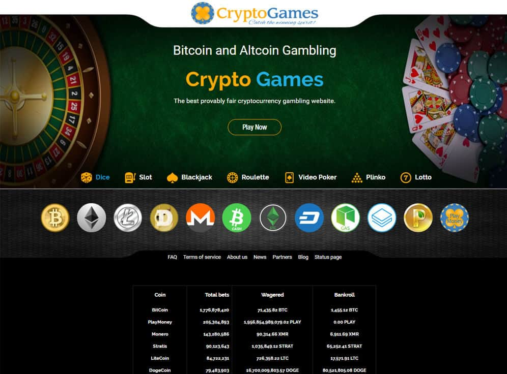 Crypto-Games.net Screenshot