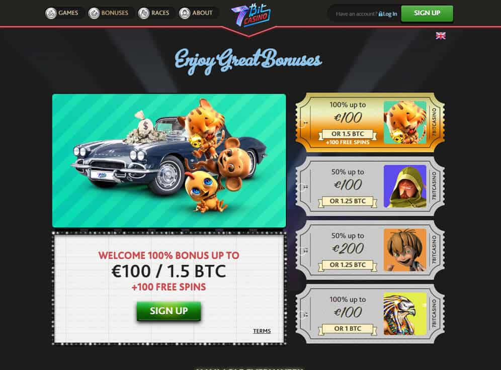 7BitCasino Screenshot