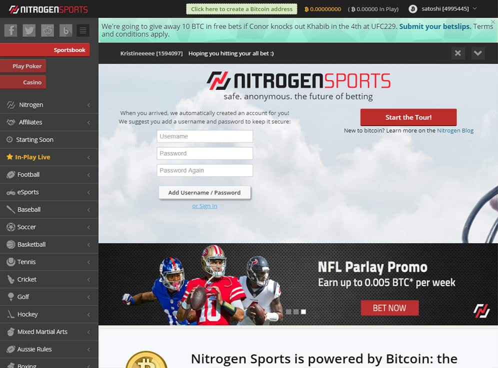 Nitrogen Sports Screenshot