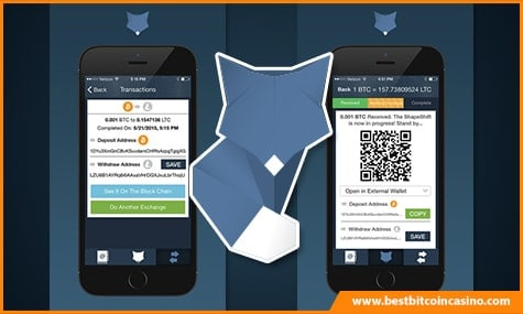 ShapeShift Mobile Transactions