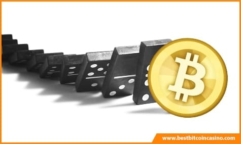Domino Effect in Bitcoin