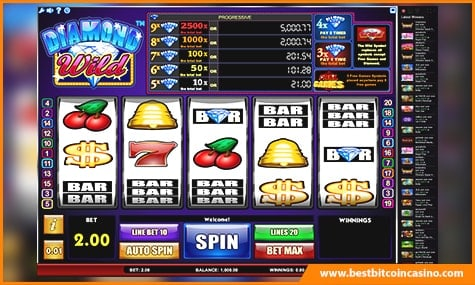 Diamond WIld slot pays 150 BTC to lucky player