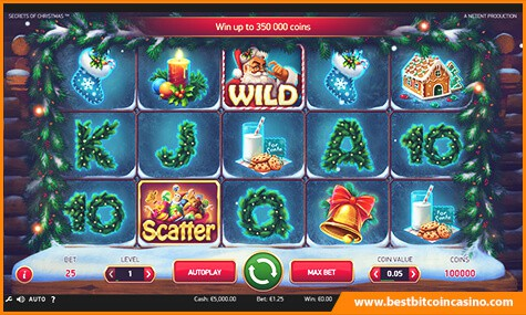Secrets of Christmas Bitcoin Slot