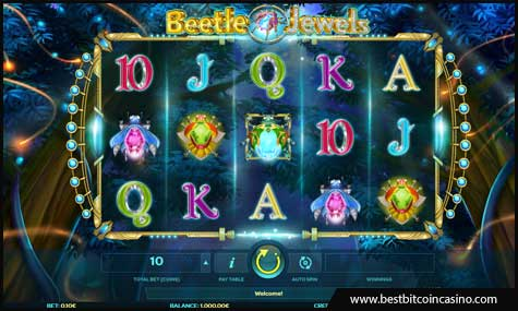Image alt text: Beetle Jewels slot from iSoftBet