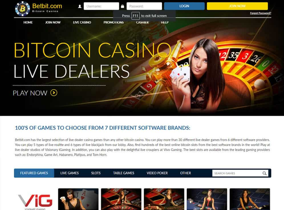BetBit Casino Screenshot