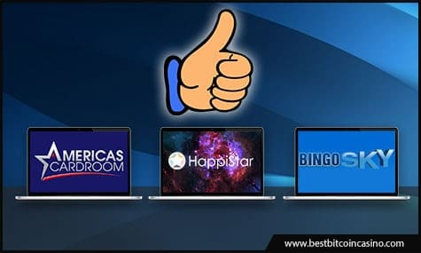 Americas Cardroom, BingoSKY, and HappiStar
