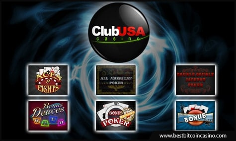 Club World Casinos offers online video poker games for fiat and Bitcoin players