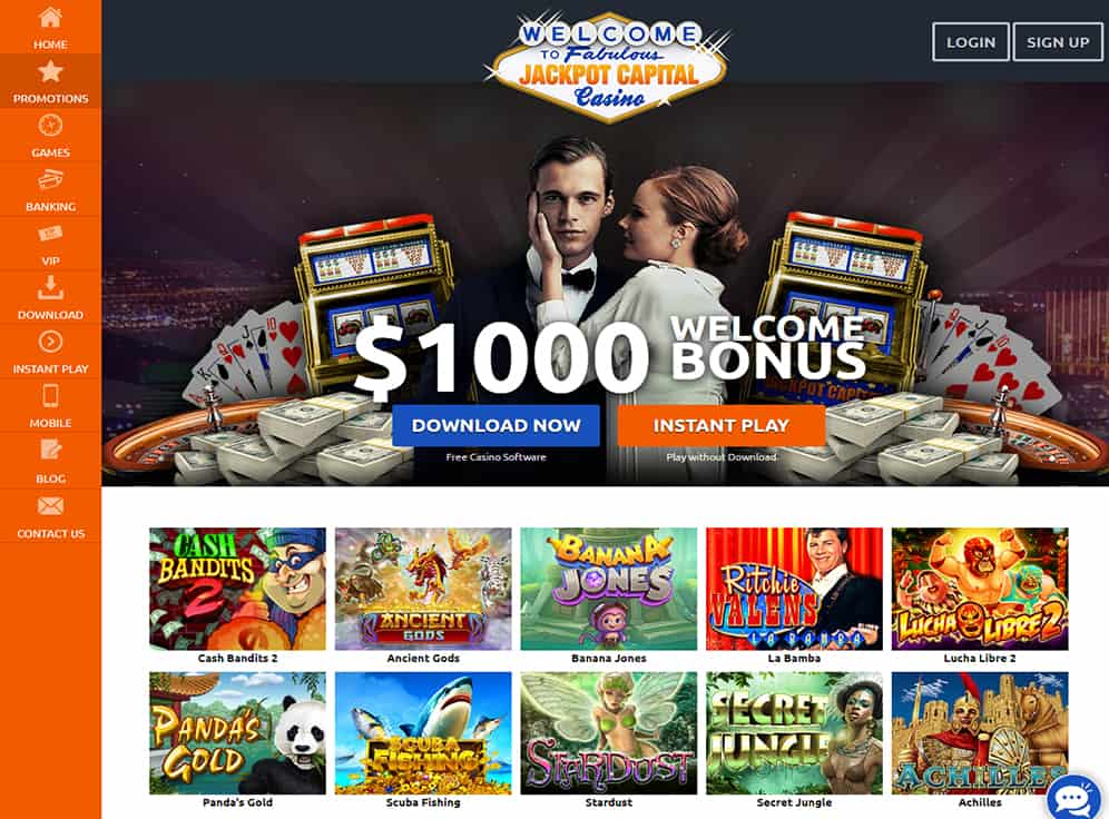 Jackpot Capital Casino Screenshot