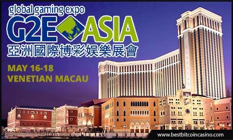 G2E Asia takes place at The Venetian Macau from May 16-18