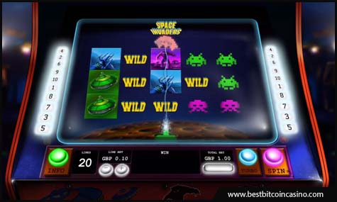 Play Space Invaders slot from Playtech