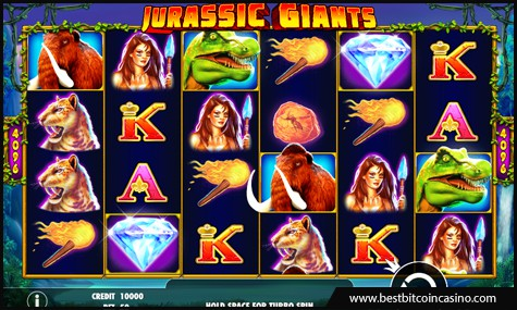 Jurassic Giants slot features 4,096 pay lines