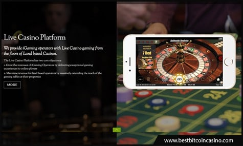 Authentic Gaming provides live casino games from real casinos