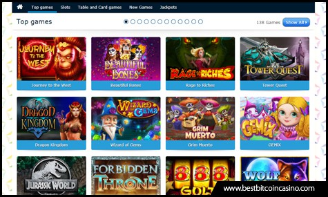HappiStar features a wide array of top Bitcoin casino games