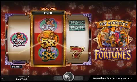 108 Heroes Multiplier Fortunes slots from Microgaming