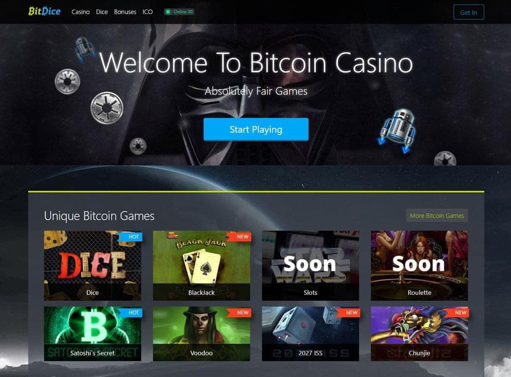 BitDice Casino Screenshot