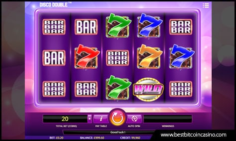 Play Disco Double slots from iSoftBet