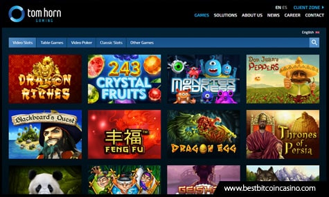 Tom Horn Gaming features high-quality online slots