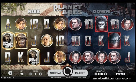 NetEnt's Planet of the Apes slots features dual reels