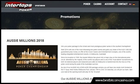 Intertops offers satellites for Aussie Millions 2018