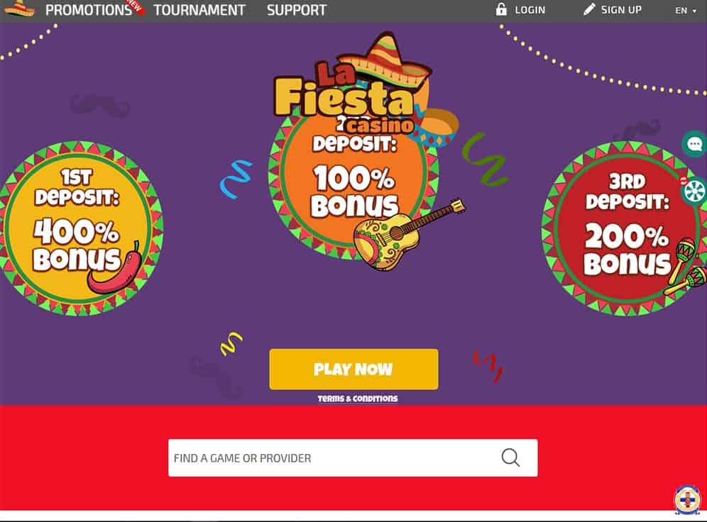 La Fiesta Casino Screenshot