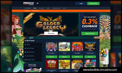 Pinnacle Casino to add games from Yggdrasil Gaming