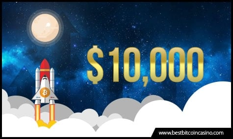 Bitcoin reaches the moon with almost $10,000 price