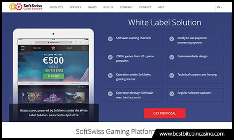 SoftSwiss offer White Label Casino Solutions
