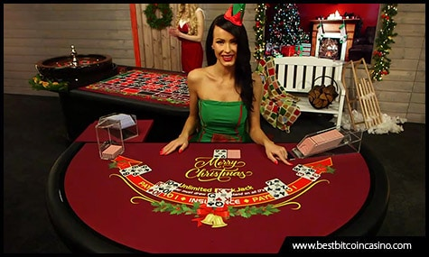 Playtech's live casino tables features Christmas decorations