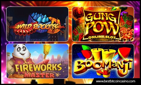 Top Fireworks-themed Slots in Bitcoin Casinos