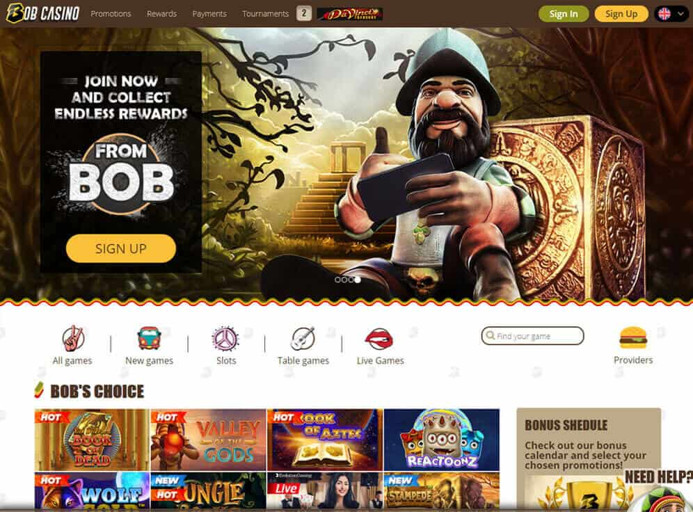 Bob Casino Screenshot