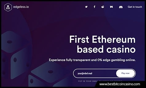 Edgeless Runs on Ethereum and Uses Smart Contracts