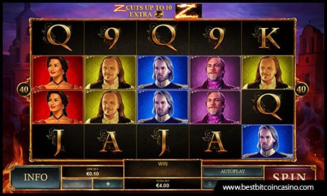 Playtech Releases The Mask of Zorro Slot