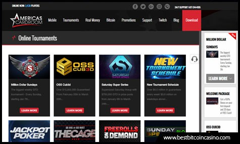 Online Poker Tournaments on Americas Cardroom