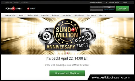 PokerStars to Hold Sunday Million Take 2