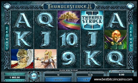 Thunderstruck II Slot by Microgaming Has 243 Ways to Win