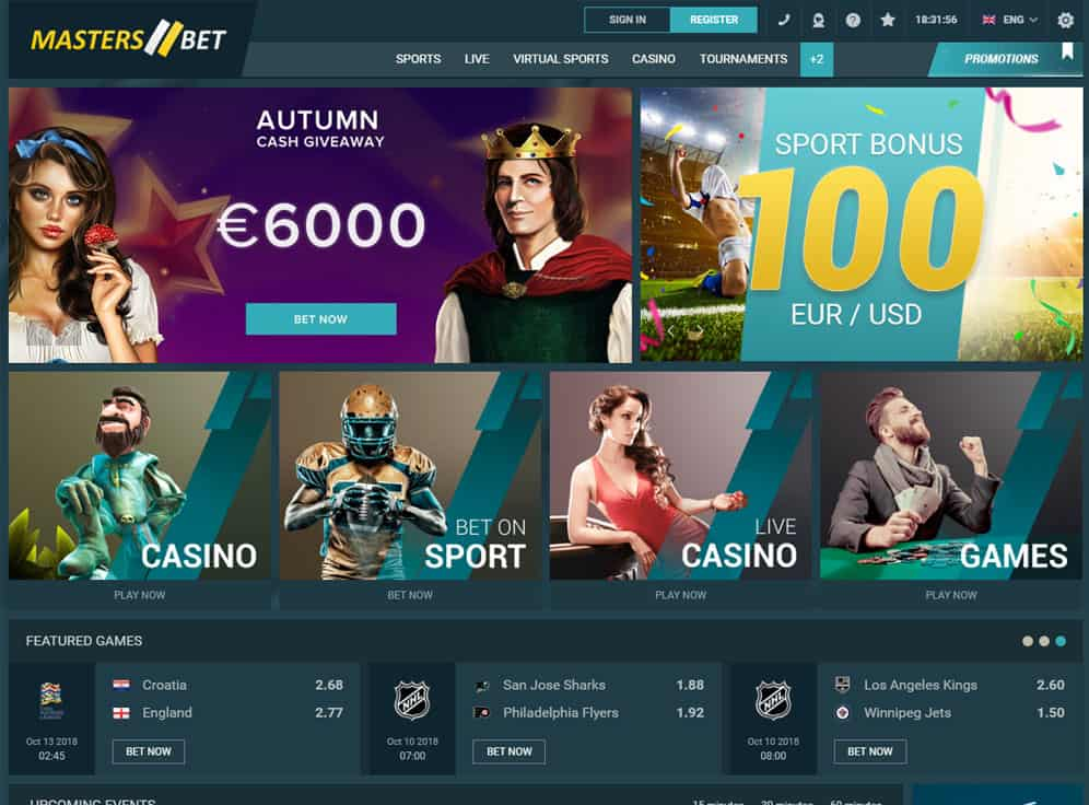 Masters-Bet Casino Screenshot
