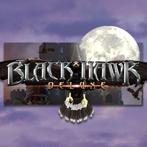 Black Hawk Deluxe Slot Logo