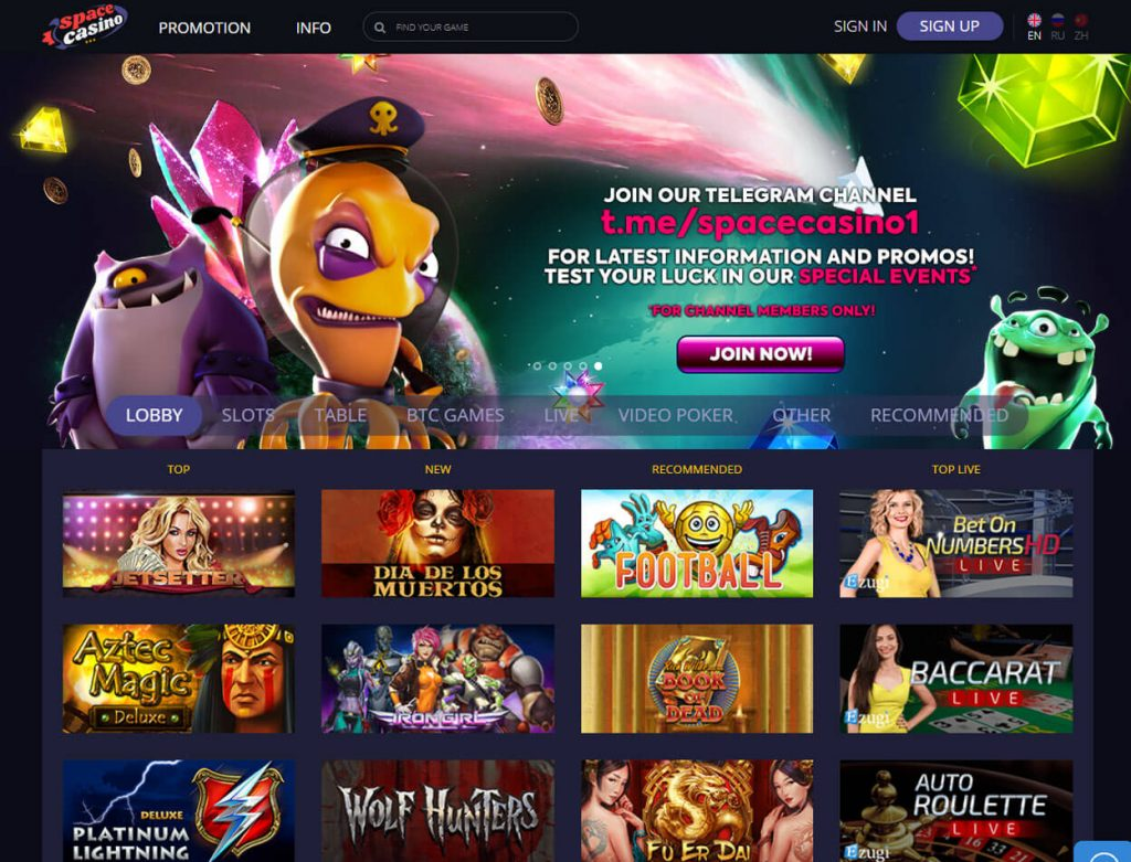 Space Casino Screenshot