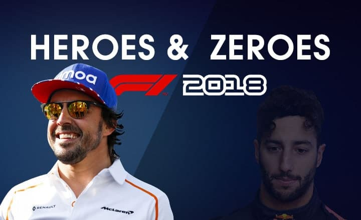 Vettel? Alonso? 3 Heroes and Zeroes of the 2018 Formula One Season