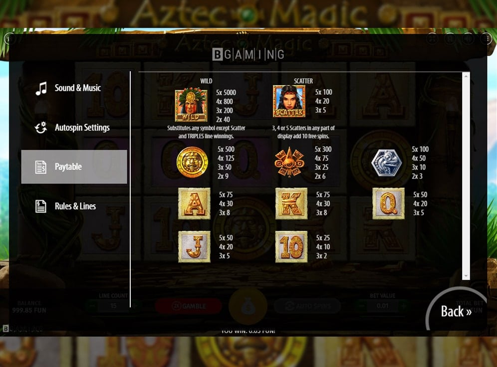 Aztec Magic Deluxe Slot #1