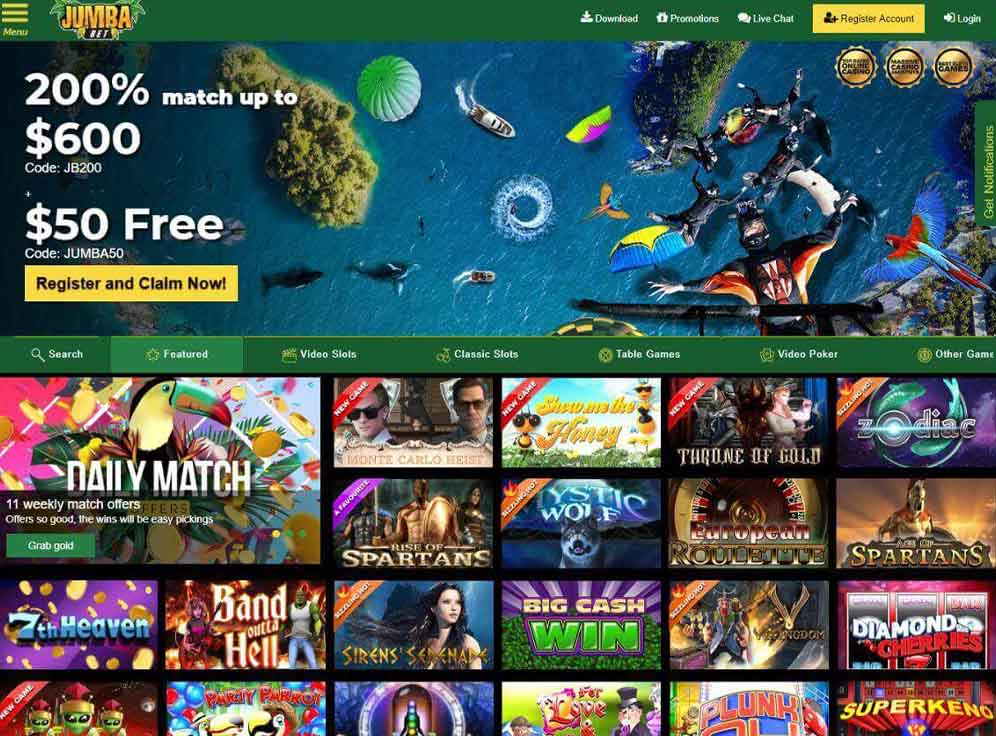 Jumba Bet Casino Review