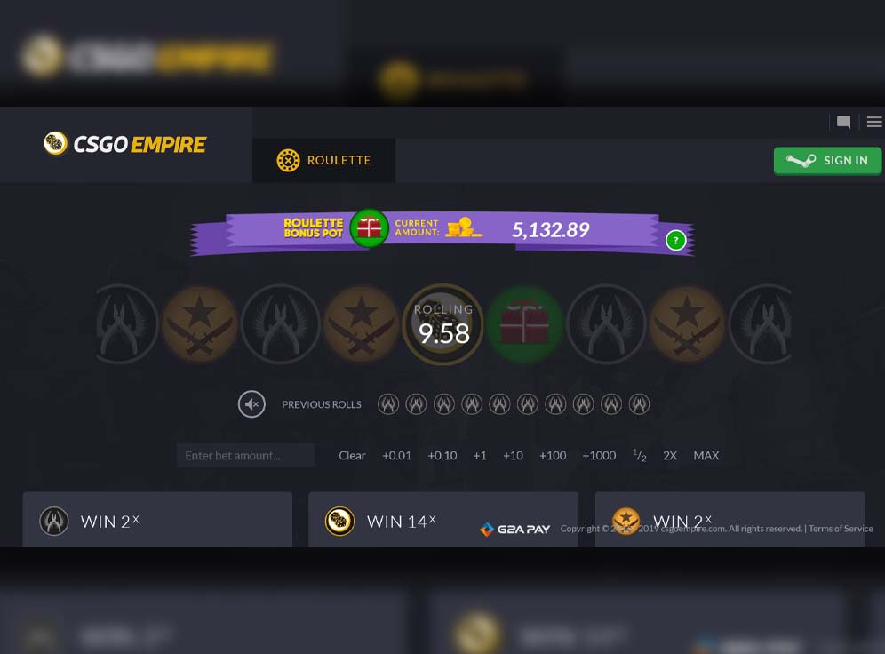 CSGOEmpire Screenshot