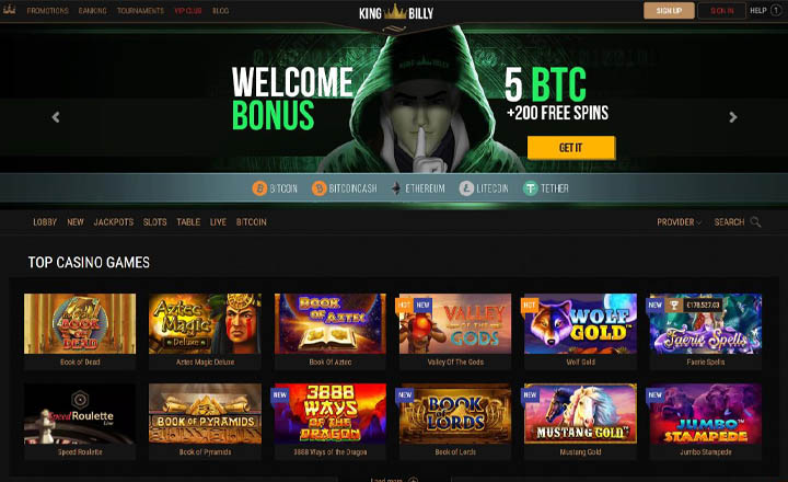 King Billy Casino Website