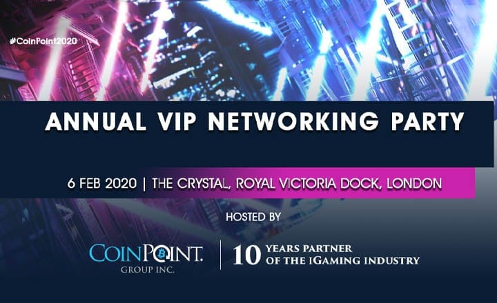 iGaming Industry Meets Blockchain Business on Feb. 6th 2020 in Annual VIP Networking Party