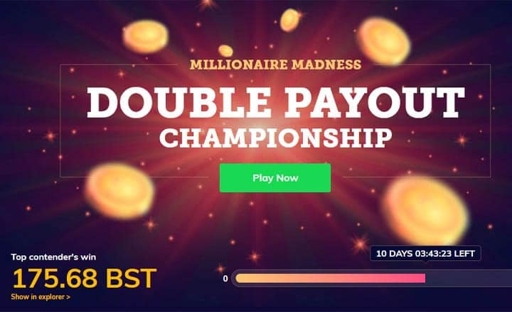 BlockStamp Games Millionaire Madness Double Payout Championship