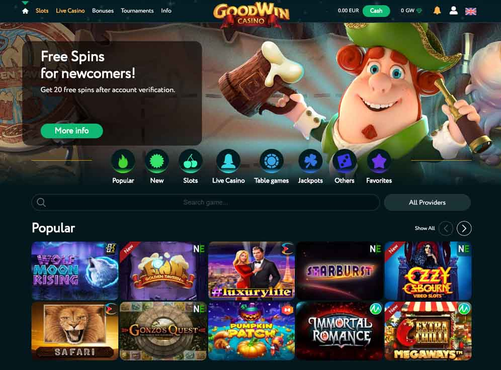 GoodWin Casino Screenshot