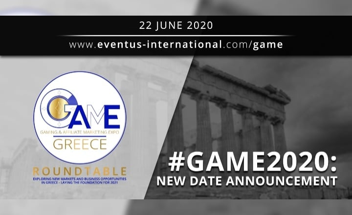 New Date Announcement for GAME Greece 2020
