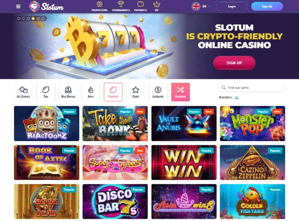Slotum Casino Screenshot