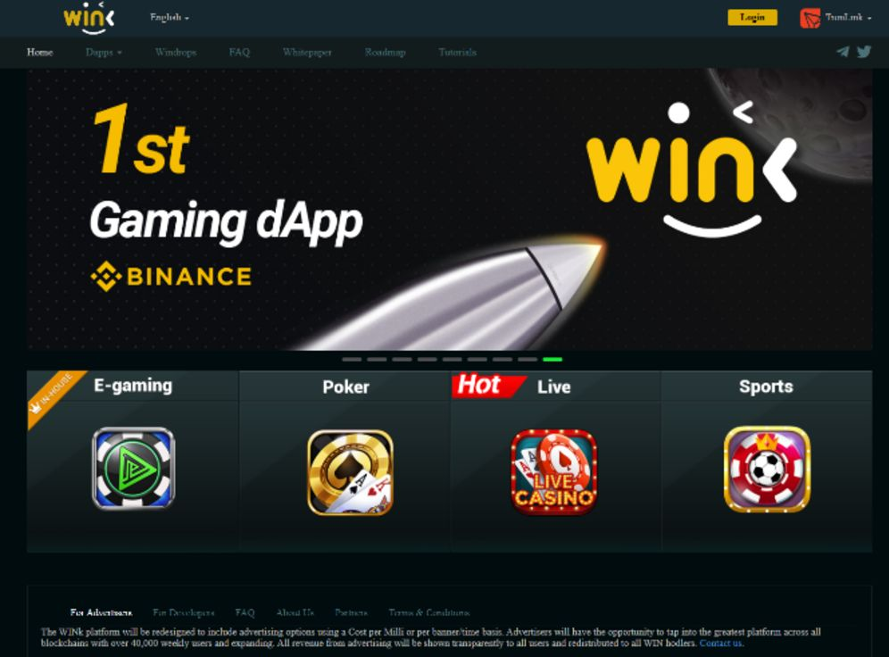 WINk Casino Screenshot